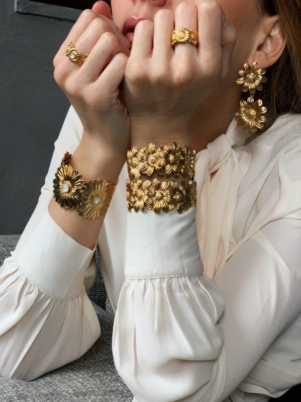 Bracelets fleurs margeurites dear charlotteparis