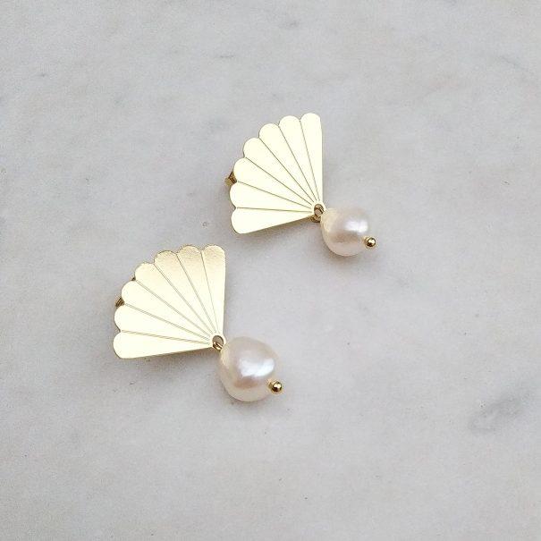 boucles venus perles