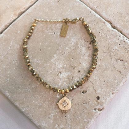 bracelet médaille etoile esther poisson plume