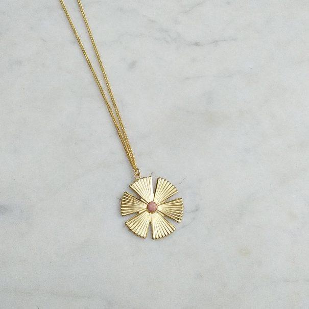 collier sol rhodonite