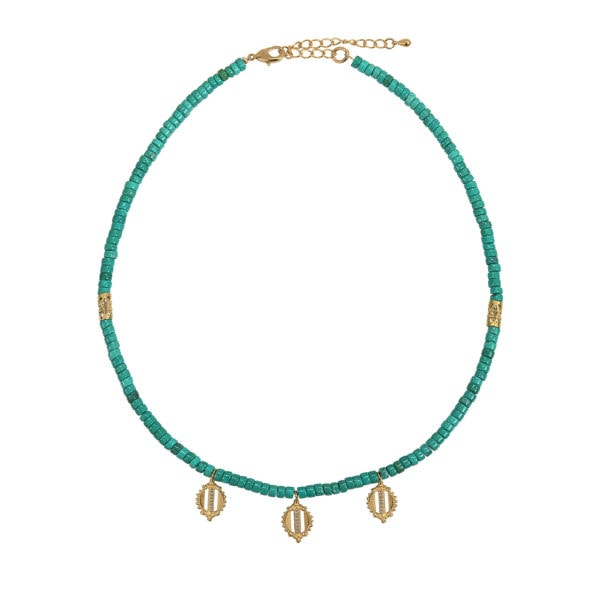 collier howlite turquoise et jonc petales dear charlotte portes
