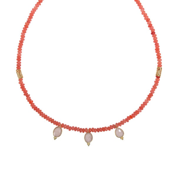 Collier pampilles jade rose majorelle Dear Charlotte
