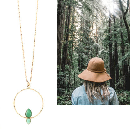collier sous-bois amazonite new