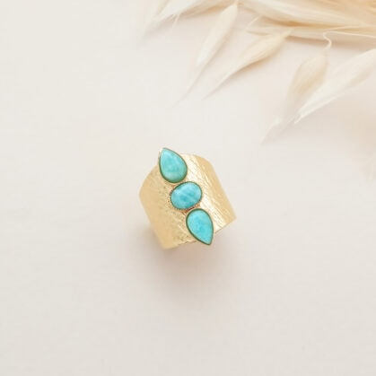 bague lili amazonite AJ pres