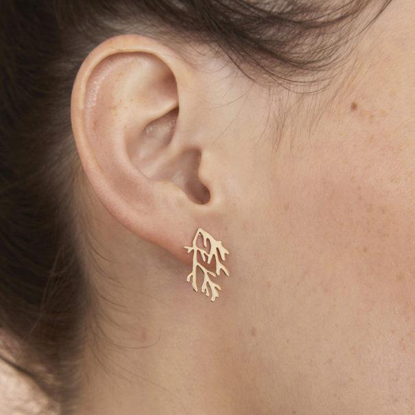 boucles d'oreilles corail ouvéa