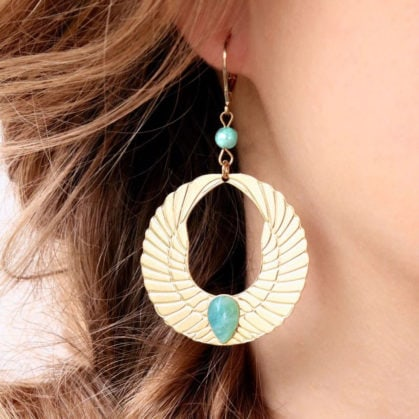 Boucles d'oreilles Olympe Amazonite