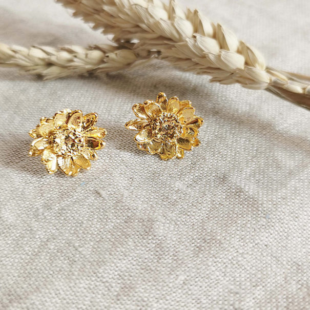 boucles velenne fleurs dorées