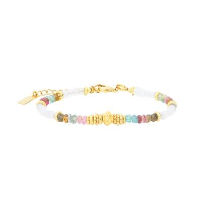 bracelet sofia pierre de Lune et tourmalines chez poisson plume