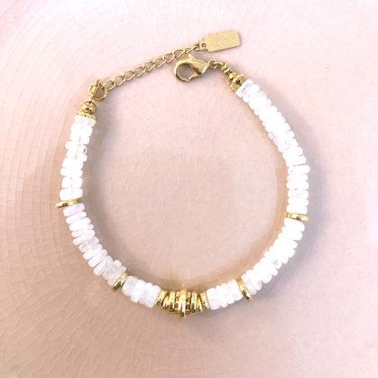 bracelet sofi pierre de lune chez poisson plume