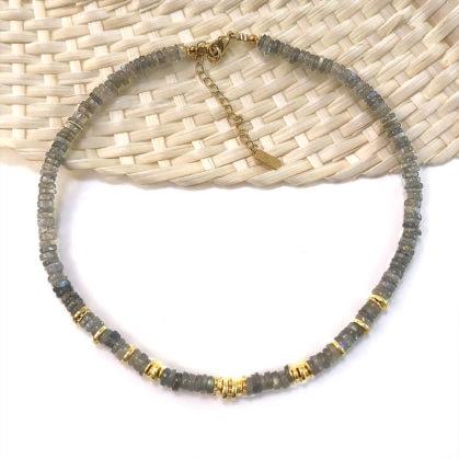 collier choker Sofi labradorite leticia ponti chez poisson plume bijoux