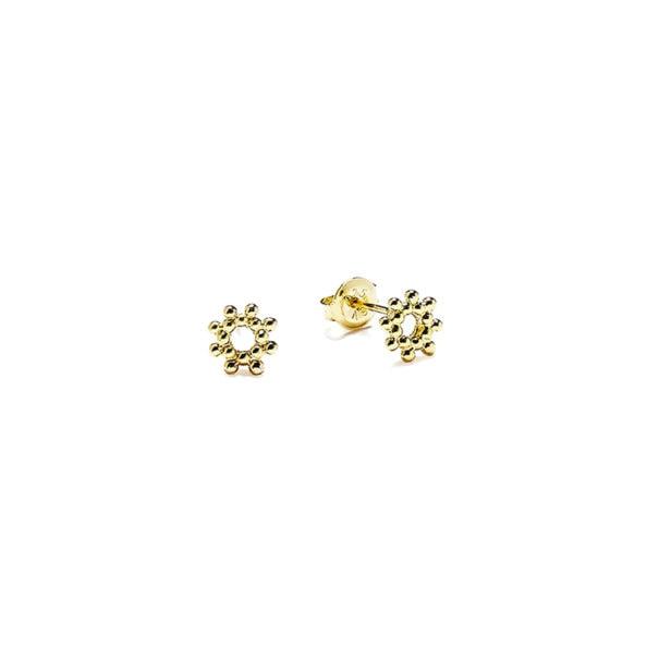 puces d'oreilles mini soleil perlé