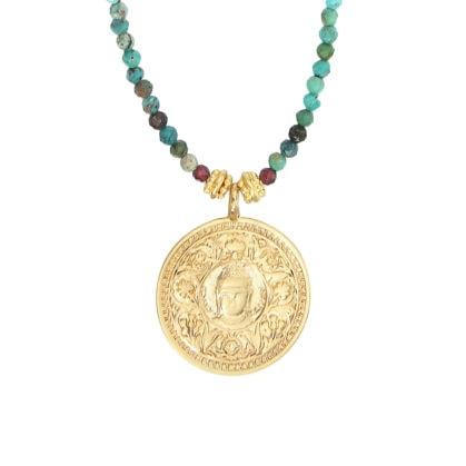 collier bouddha turquoise leticia ponti chez poisson plume