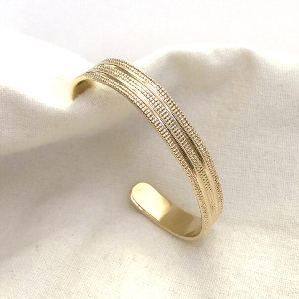 jonc camille plaque or poissonplume bijoux