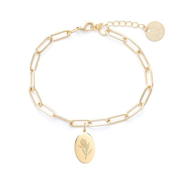 bracelet maille olea olivier