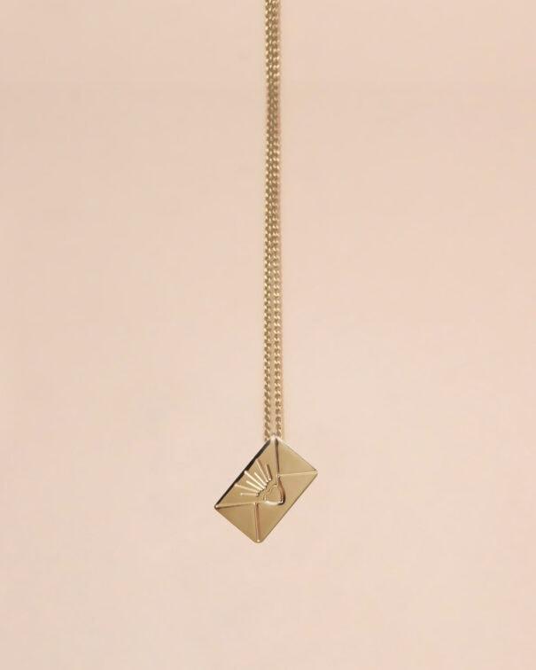 Collier petite enveloppe hermès