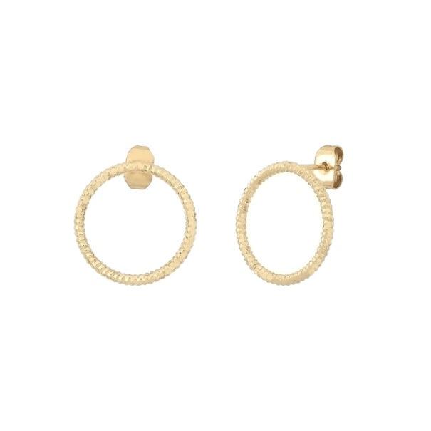 boucles d'oreilles love mary anneau cercle