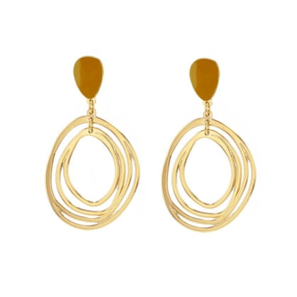 boucles ondes ocre