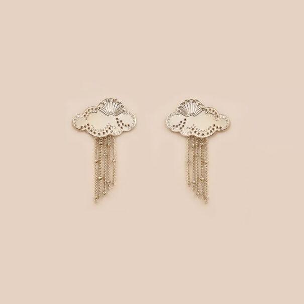 Boucles d'oreilles nuages hau chez poissonplume bijoux