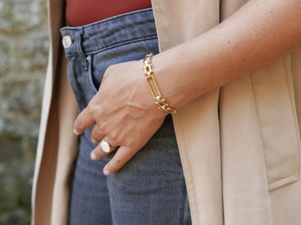 bracelet elaia grands maillons jour de mistral