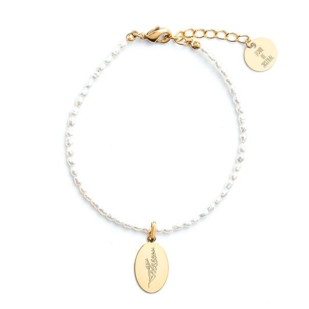 bracelet perles lavande