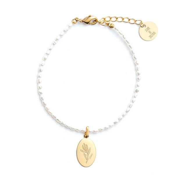 bracelet perles olivier