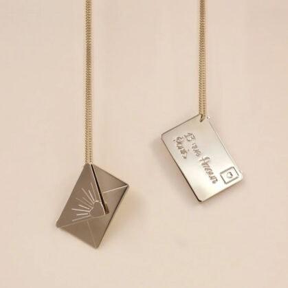 collier enveloppe love letter