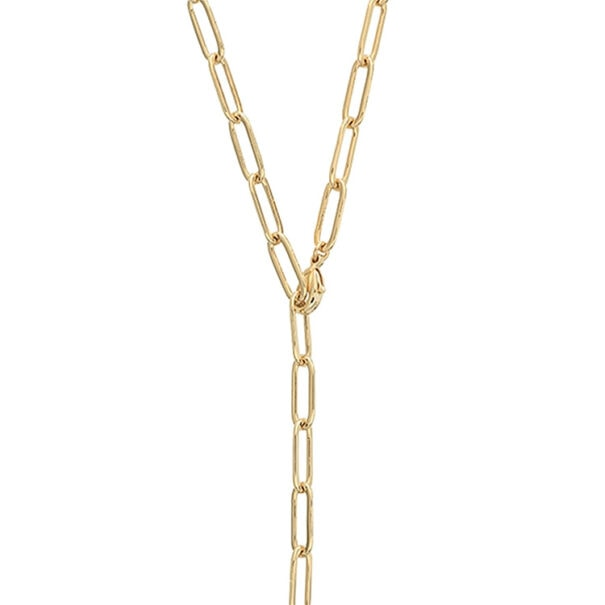collier pure maillons rectangles fins