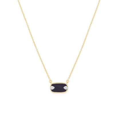 Collier sangha onyx be maad chez poissonplume