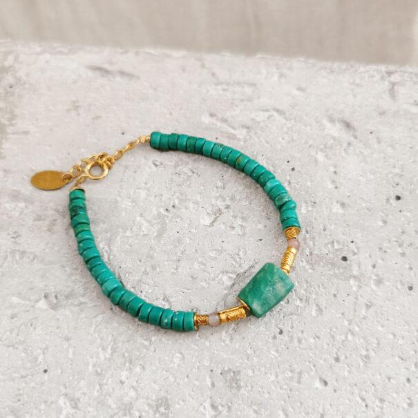 bracelet gokana turquoise elise tsikis