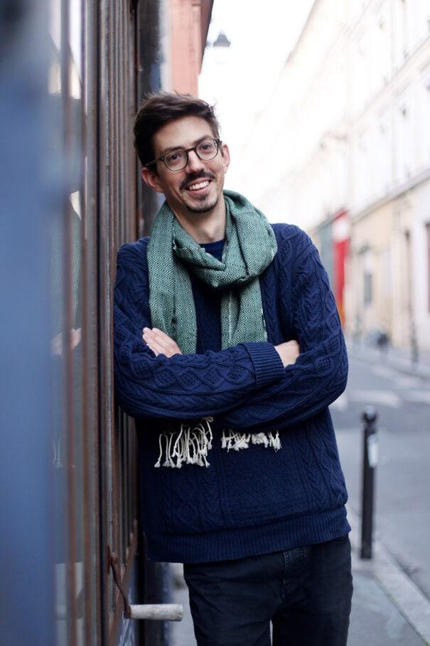 foulard petit krama chaud vert foret homme