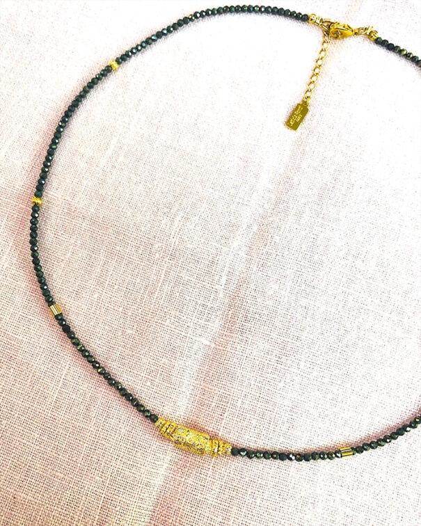 Collier amaia pyrite chez poisson plume