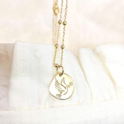 collier médaille paloma