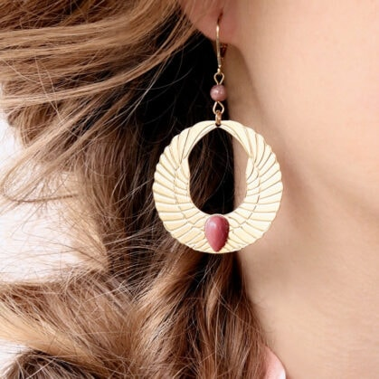 Boucles olympe rhodonite