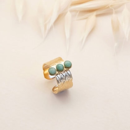 Bague katniss trio amazonite PPAJ