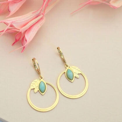 boucles althea amazonite