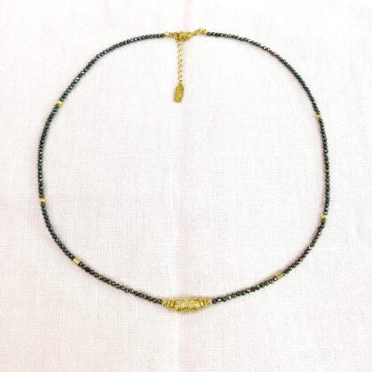 collier amaia pyrite poissonplume
