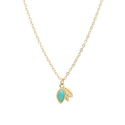 collier ylang amazonite fleur