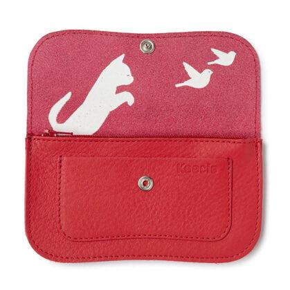 grand porte-monnaie chat rouge