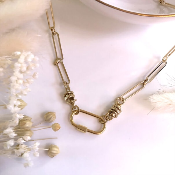 Collier apolline grands maillons