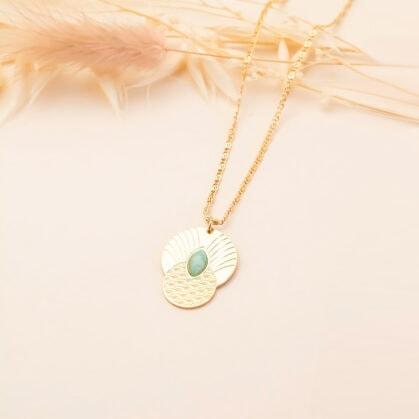 collier bohème honolulu amazonite