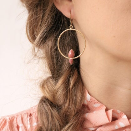 boucles fidji rhodonite roses