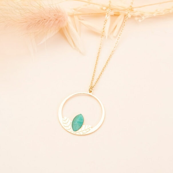 collier clematite amazonite