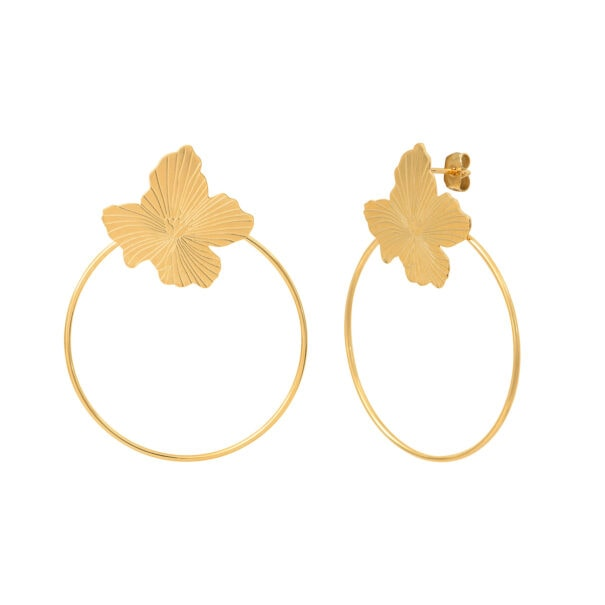 boucles oreilles on my skin fleurs