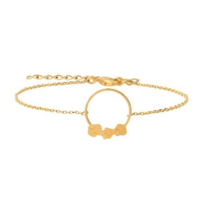 bracelet fleurs pansy les dissonances chez poissonplume bijoux