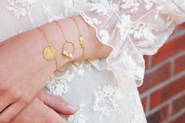 bracelet fleurs pansy et bella les dissonances chez poissonplume bijoux