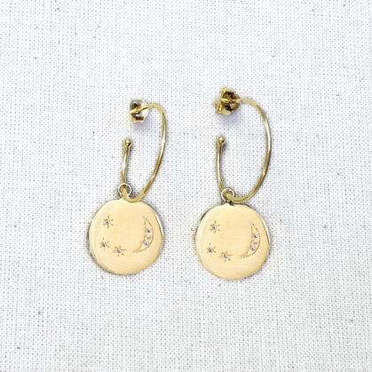boucles médailles divine hours poissonplume bijoux