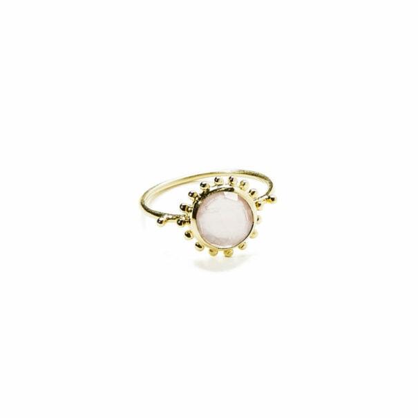 Bague tahia quartz rose ADV soleil