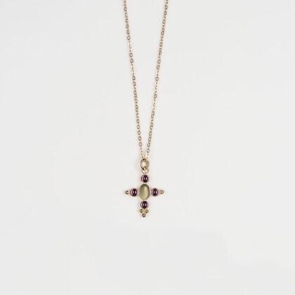 collier santa cruz labradorite grenat chez poissonplume bijoux