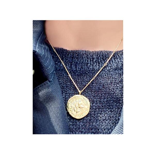collier shirine feuillage chez poissonplume bijoux