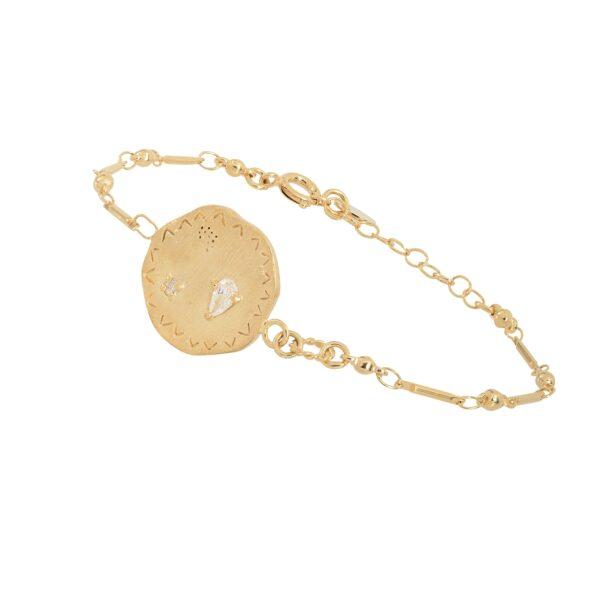 bracelet médaille Gala Louise Hendricks chez poisson plume bijoux